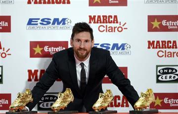 Messi consigue su cuarta bota de oro e iguala a Cristiano Ronaldo