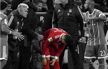 James Rodríguez fue sustituido en la derrota del Bayern por una contusión cerebral leve
