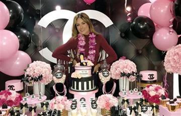 Sara Uribe comenzó a celebrar su cumpleaños por todo lo alto