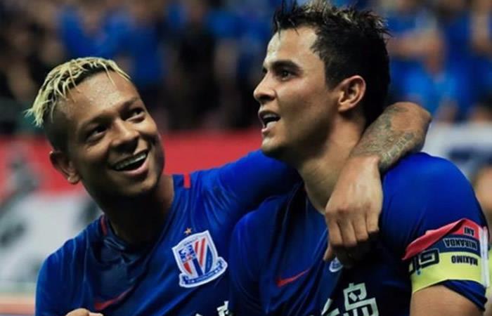 'Gio' Moreno y Freddy Guarín, se coronan campeones con el Shanghái