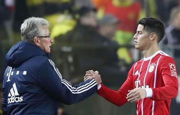 James Rodríguez: Si sigue en el Bayern Múnich, será sin Jupp Heynckes