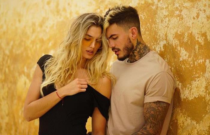 Mateo Carvajal se tatuó el nombre de Melina su novia