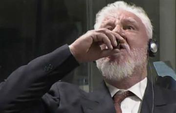 Culpable de crímenes en la antigua Yugoslavia se envenenó en plena audiencia