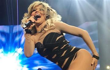 Gloria Trevi desnudó al ex de Fey en pleno concierto