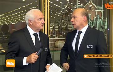 Carlos Antonio Vélez la embarró en plena transmisión desde Rusia