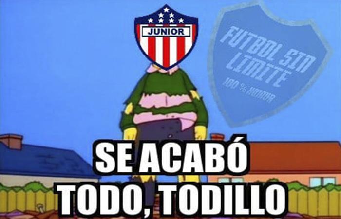 Junior quedó eliminado por Flamengo y los memes no perdonaron