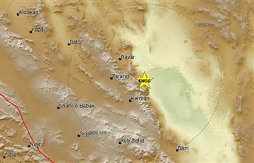 Se producen dos fuertes terremotos en Irán, de magnitud 6,0 y 5,0