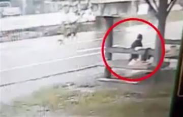 Video: Mujer es embestida por un automóvil y sale caminando como si nada