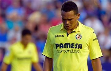 Carlos Bacca salió lesionado en el encuentro del Villarreal ante el Leganés