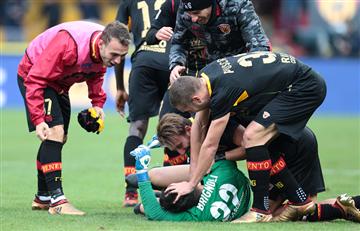 Serie A: Arquero del Benevento rompe racha de 14 derrotas