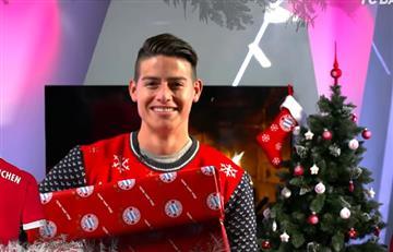 James Rodríguez y el Bayern Múnich le desean una feliz navidad al mundo entero