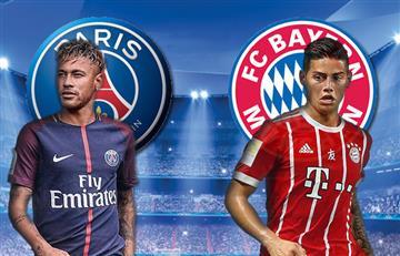 Bayern Múnich vs. PSG: James Rodríguez en la Champions League EN VIVO