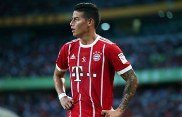 James Rodríguez titular con el Bayern Múnich para enfrentar al PSG