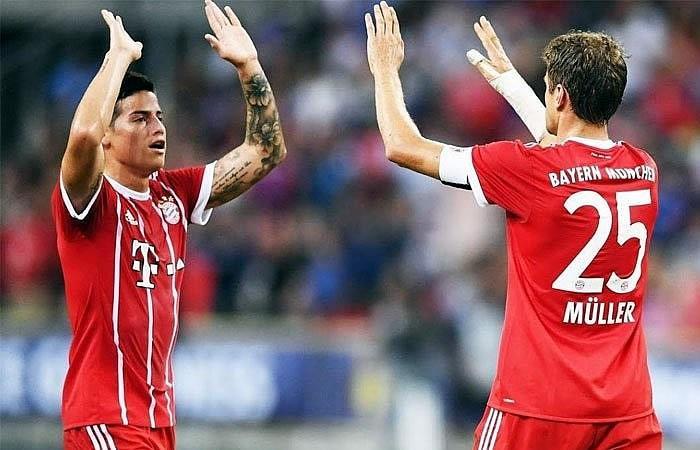 James Rodríguez y el Bayern Múnich destrozaron y quitaron el invicto al PSG