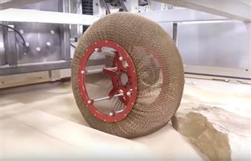 NASA crea una rueda que no se pincha ni se deforma