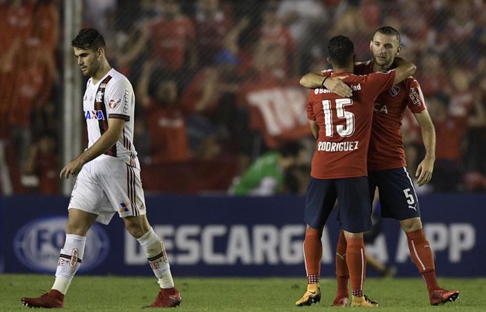 Independiente 2-1 Flamengo. Foto: AFP