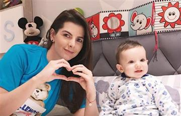 Carolina Cruz reveló el closet de su hijo Matías