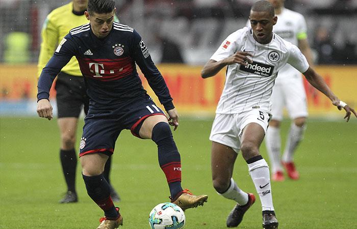 James Rodríguez fue titular en la victoria del Bayern Múnich