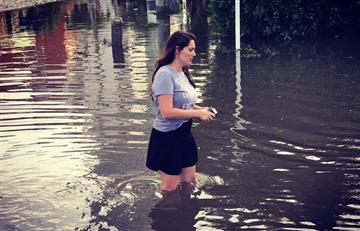 Jessica De La Peña, enfurecida tras la inundación de su casa en Castillogrande
