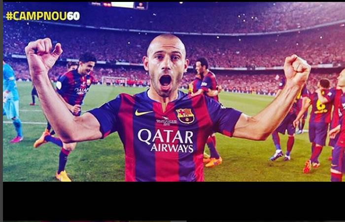 Mascherano  le dice adiós al Barcelona