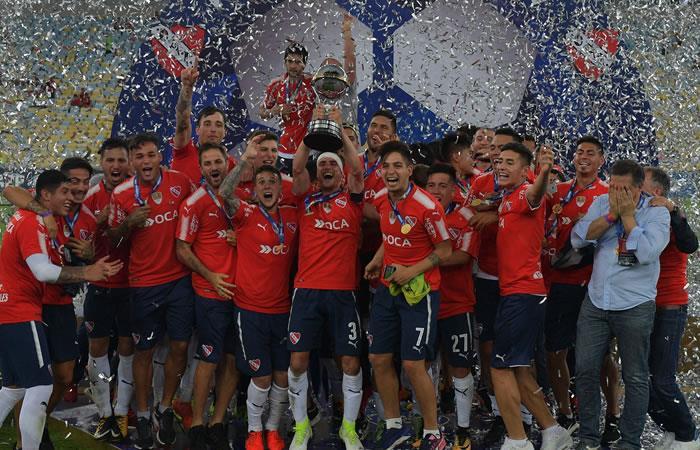 Independiente, campeón de la Sudamericana 2017. Foto: AFP
