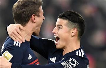 James Rodríguez titular en la victoria agónica del Bayern Múnich