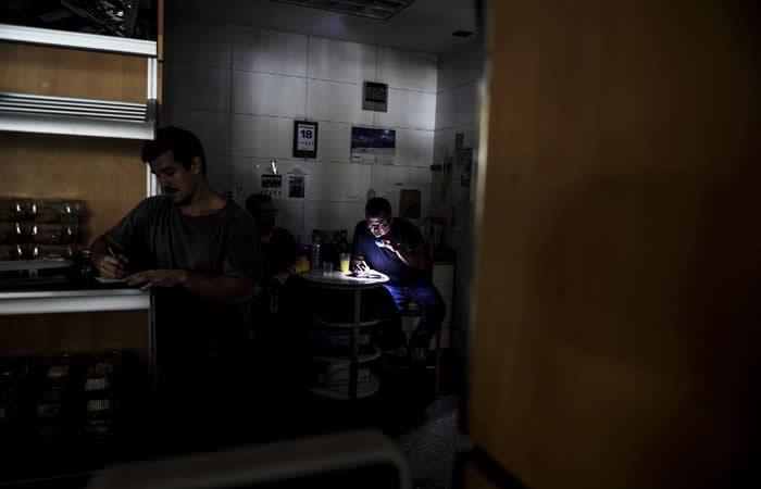 Un apagón en Caracas generó