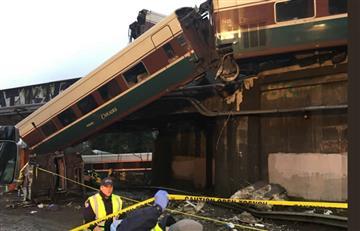 Tren se descarrilló en Seattle, Estados Unidos, y dejó varios muertos
