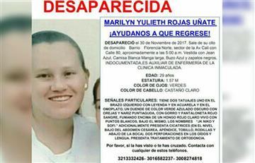 Angustiosa búsqueda de un enfermera desaparecida en Bogotá