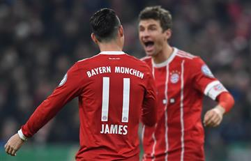 James Rodríguez jugó y el Bayern Múnich ganó al Borussia Dortmund