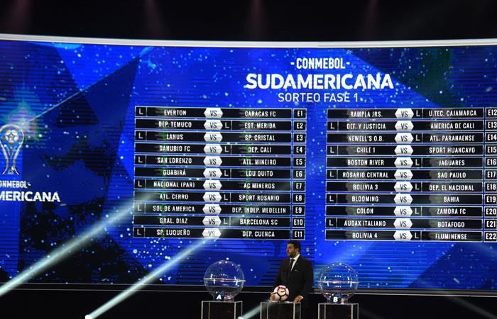 Sorteo Copa Sudamericana 2018. Foto: AFP