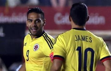 James Rodríguez y la graciosa respuesta a Falcao García