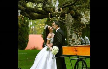Marlene Favela y su polémico vestido de novia