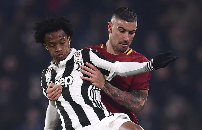 Juan Guillermo Cuadrado volvió a jugar con Juventus en un partidazo contra la Roma