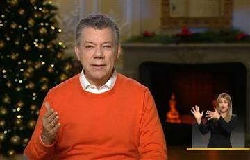 Santos hizo un nuevo llamado para acabar la polarización en su mensaje de Navidad