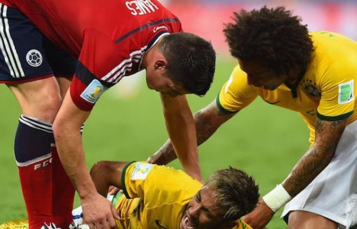Neymar entre lágrimas le relata a Piqué lo que Zúñiga le hizo en Brasil 2014
