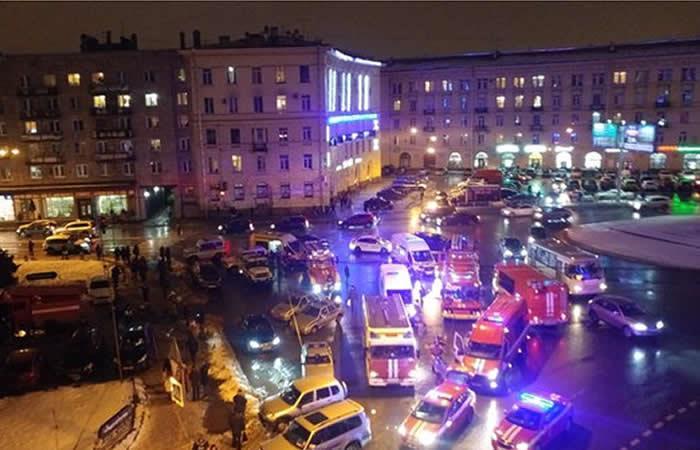 Explosión en supermercado de  San Petersburgo