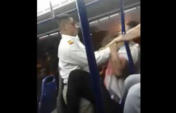 Video: A los golpes se fueron un conductor y un pasajero