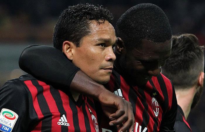 Carlos Bacca y Cristian Zapata nominados a mejor gol del 2017 con el AC Milan