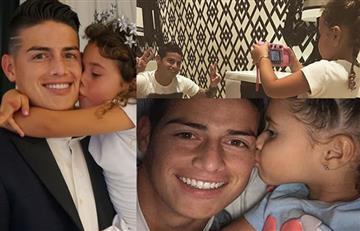James Rodríguez y las fotos más tiernas del 2017 con su hija Salomé