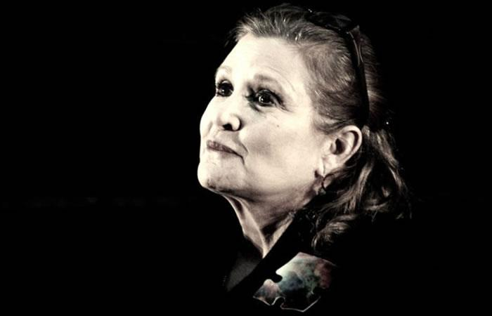 Carrie Fisher. Foto. AFP