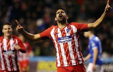 Diego Costa: Entró y anotó en su regreso con el Atlético de Madrid