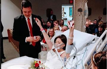 Mujer cumple el sueño de casarse un día antes de su muerte