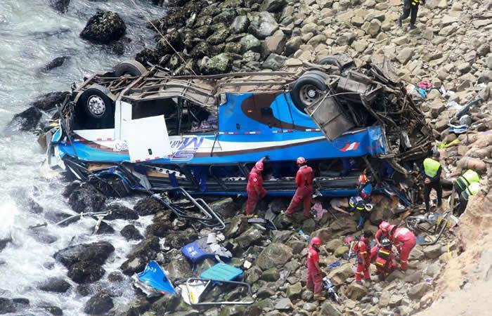 Perú: La increíble reacción de un joven que se salvó de morir en el accidente
