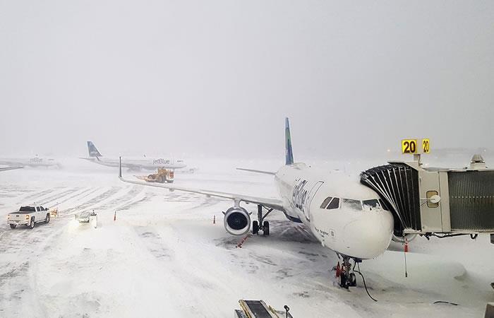 Vuelos cancelados entre Nueva York y Bogotá. Foto: AFP