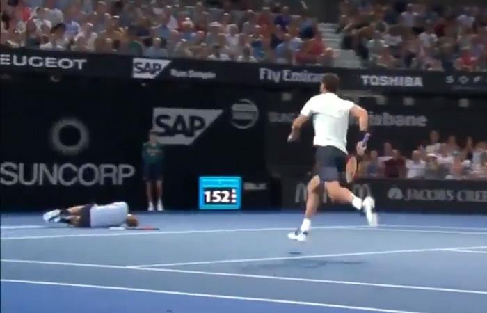 Increíble gesto de un tenista a su rival que se lesionó en pleno partido