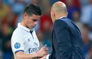 James Rodríguez volvió a hablar de Zidane y fue contundente con lo que dijo