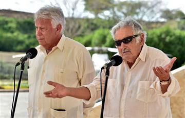 Uribe la emprende contra Pepe Mujica y Felipe González