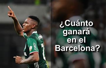 Yerry Mina y el millonario sueldo que ganará en el Barcelona