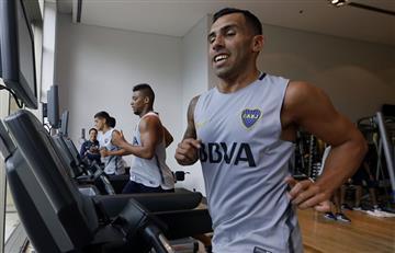 Carlos Tevez regresó a los entrenamientos con Boca Juniors